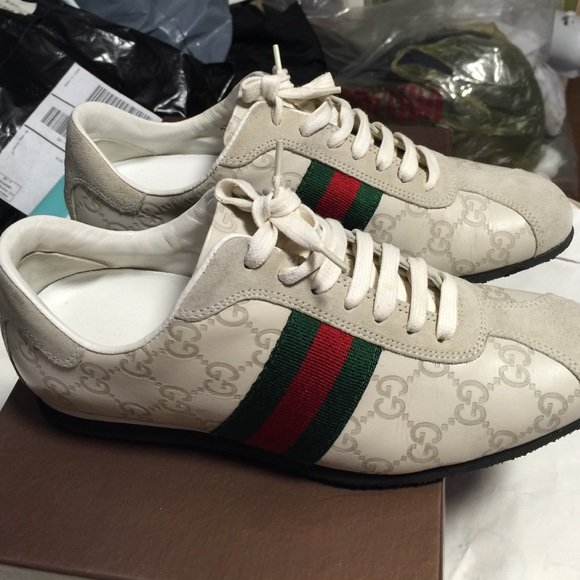 76cc262ee73 Gucci Shoes - Gucci women s white Guccissima sneaker