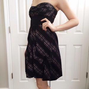 BCBG Max Azria strapless formal prom dress
