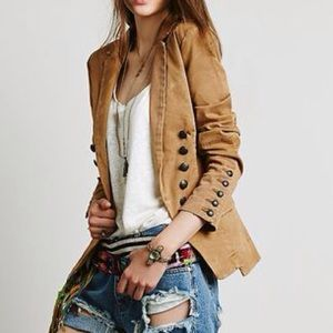 FREE PEOPLE STRUCTURED WASH BLAZER