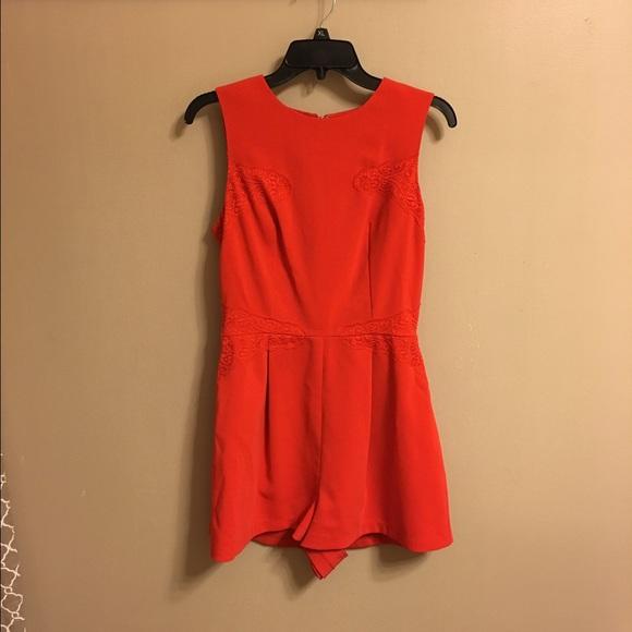 36a8d46739e Topshop Pants | Red W Lace Romper Aso Jessie James Decker | Poshmark