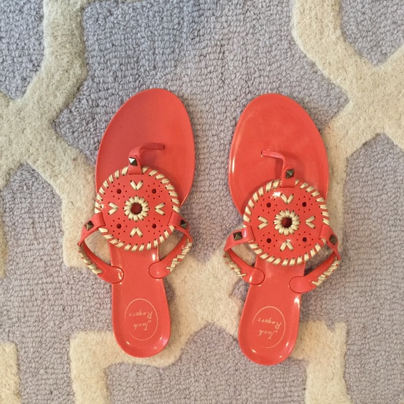 ab5cb20c7b840 Jack Rogers Shoes - Jack Rogers Georgica Jelly Sandal - Fire Coral