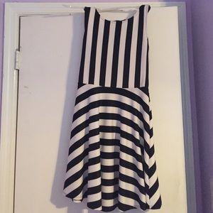 Black and white stripe dress with the cutest back!