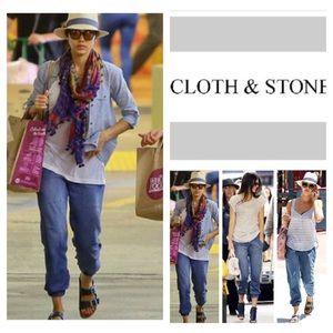 Anthropologie Cloth & Stone Denim Joggers. NWOT.