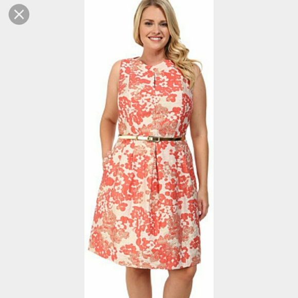 Tahari by Arthur S. Levine plus size floral dress