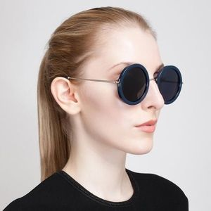 The Row / Linda Farrow rounded sunglasses