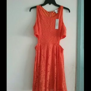 Sans Souci Dresses & Skirts - Orange lace Dress