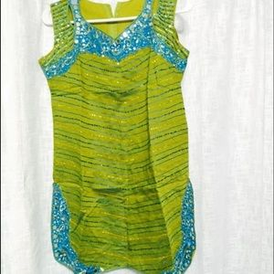 green and blue Indian patiala dress