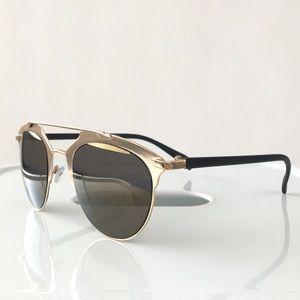Accessories - Gold Mirrored Double Bridge Sunglasses