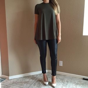 Tops - Olive Mock Neck Tunic (LAST MEDIUM!)
