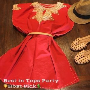 Tops - ☀️HP🌵Hand-stitched Tunic NWOT