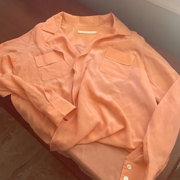 ba5bada6687f2 Coral silk dressy blouse. Hutch. M 572cf5fab4188efec601ad04.  M 572cf5fcc28456e46e0094ba. M 572cf5fd6a58308d0c01ac8b