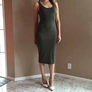 Dresses & Skirts - LAST ONE! Olive Midi Tank Dress