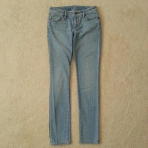 LOFT light wash curvy skinny denim jeans
