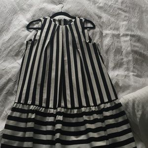 asos black and white skater dress