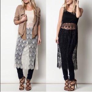 BRHEA tank w lace skirt - BEIGE