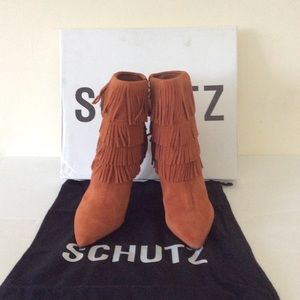 Schutz Kassia Leather Heels Size US 7 UK 37