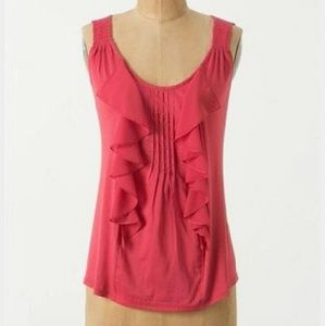 Anthropologie Tousled Pintuck tank by Tiny
