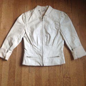 Heritage 1981 Jackets & Blazers - White faux leather jacket heritage 1981 S