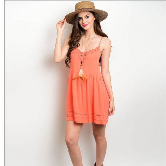 Dresses | Casual Coral Colored Dress