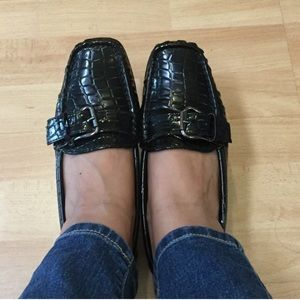 Pierre Dumas Shoes - Pierre Dumas Black Patent Loafers Flats