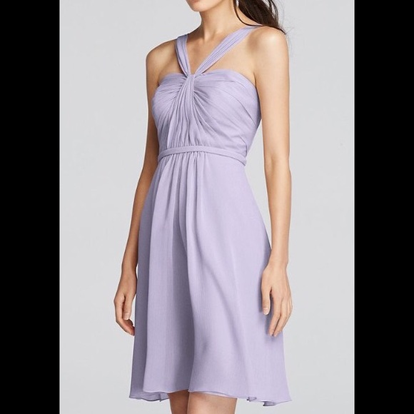 52e24069fd61 David's Bridal Dresses & Skirts - David's Bridal Iris Y-Neck Chiffon Short  Dress