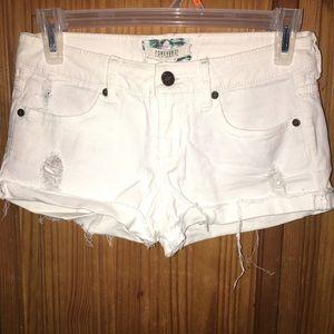 PacSun Pants - White jean Shorts