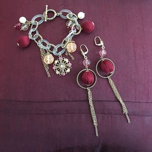 Jewelry - Gorgeous bracelet and earrings set.