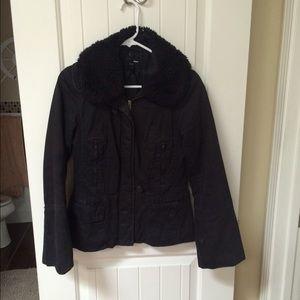 H&M Sherpa black jacket