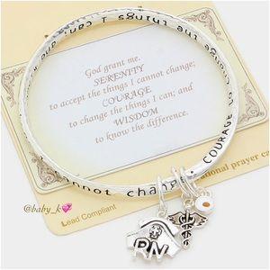 Nurse Charm Serenity Prayer Bracelet