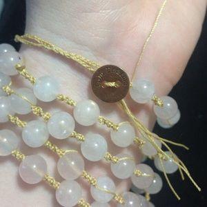 Lulu Dharma 5 Wrap bracelet Rose Quartz