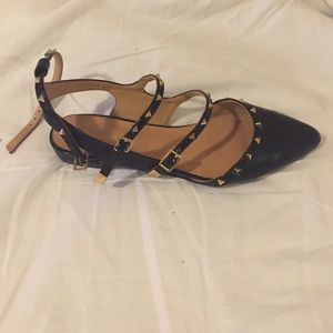ALDO Shoes - Black, studded ALDO flats