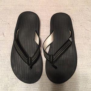 9362b2f587ca Eddie Bauer Shoes - Eddie Bauer black flip flops size 8