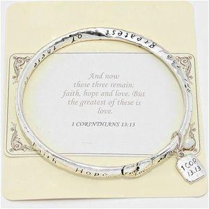 1 Corinthians 13:13 Charm Bracelet