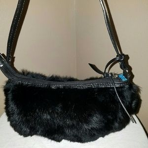 Aqua madonna  Handbags - Real Rabbit fur purse pom poms clutch bag