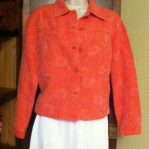 Coldwater Creek Jackets & Blazers - Coral textured jean jacket