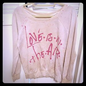 Chaser love is in the air sweatshirt