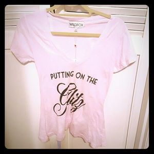 Wildfox Putting on the Glitz Vneck top