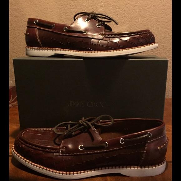 Jimmy Choo Shoes   Croc Boat Shoe