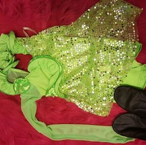 Pants - Girls Child M hip hop/jazz dance outfit