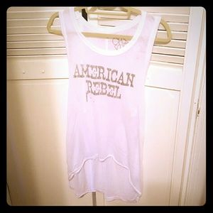 Chaser american rebel racerback top