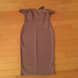 Cara Off The Shoulder Midi Bodycon Dress
