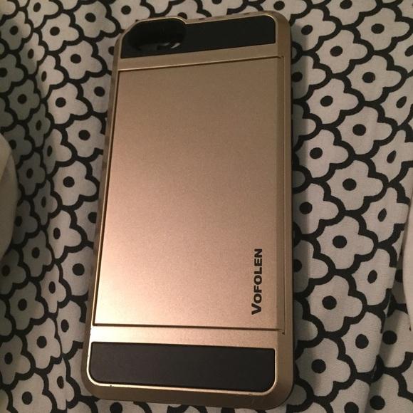quality design 57807 690b4 Vofolen iPhone 6 gold/black card holder case