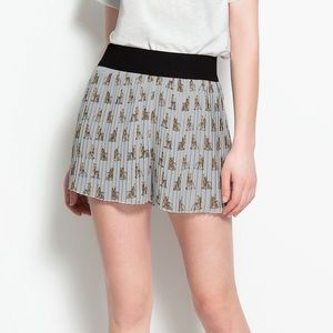 {zara} pleated Scotties shorts