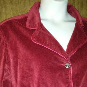 Kikit Jeans Jackets & Blazers - Plus size velvet jacket in deep garnet