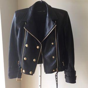 BALMAIN X H&M Leather Moto Jacket