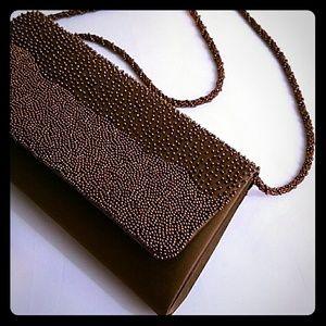 La Regale Handbags - 🆕 Brown Special Occasion Purse Copper Beads