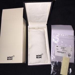 Authentic Mont Blanc Large Key Ring Box & Sleeve