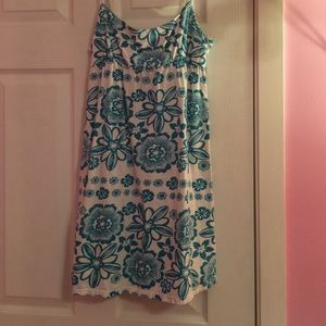 Aeropostale White and blue floral designed dress