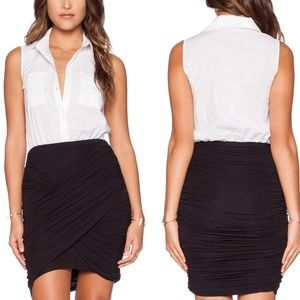 Bailey 44 Dresses & Skirts - BAILEY 44  $189* Black White Ruched Shirtdress