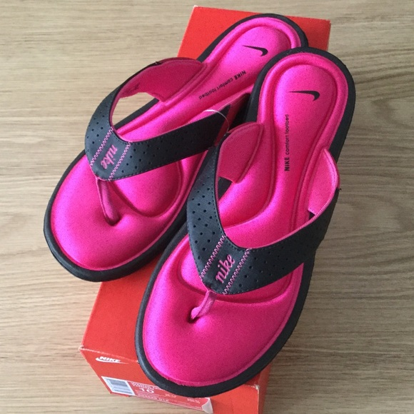 b79746bb96fe NEW WOMEN COMFORT THONG FLIP FLOP sz 10 pink black
